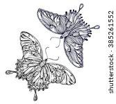 vintage hand drawn doodle... | Shutterstock .eps vector #385261552