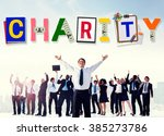 charity support help welfare...   Shutterstock . vector #385273786