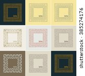 hand drawn doodle border frames.... | Shutterstock .eps vector #385274176
