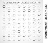 wreath vector icon set .laurel...