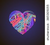 Bright Heart With Colored Line...