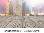 empty floor and modern building ... | Shutterstock . vector #385330096