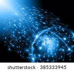 best internet concept of global ... | Shutterstock . vector #385333945