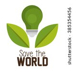 save the planet design  | Shutterstock .eps vector #385354456