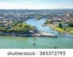 Koblenz, Deutsches Eck, Festung Ehrenbreitstein,