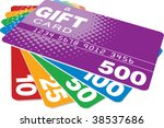 color gift cards  vector format  | Shutterstock .eps vector #38537686