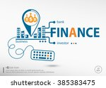 finance and marketing concept.... | Shutterstock .eps vector #385383475
