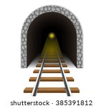 railway tunnel vector... | Shutterstock .eps vector #385391812