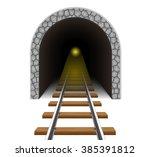 railway tunnel vector... | Shutterstock .eps vector #385391812