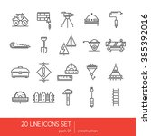 thin lines icon collection  ...