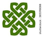 four leaf clover shaped knot ... | Shutterstock .eps vector #385398088