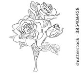 vector ink sketch of a black...   Shutterstock .eps vector #385406428