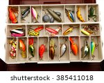 Colorful Fishing Lures In An...