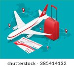 travel and tourism background.... | Shutterstock .eps vector #385414132