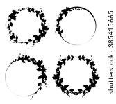 set of round frames. black...   Shutterstock .eps vector #385415665