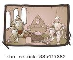vintage characters | Shutterstock .eps vector #385419382