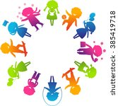 children's day concept. cute... | Shutterstock . vector #385419718