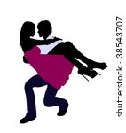 a couple silhouette... | Shutterstock . vector #38543707