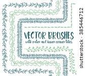 set of 5 hand drawn vector... | Shutterstock .eps vector #385446712