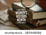 Small photo of Women's history month photo with antique books.