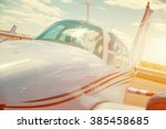 cabin of a small sports plane ... | Shutterstock . vector #385458685
