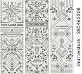 set of three decorative designs....
