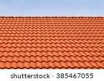 tile roofs  patterns of blue sky | Shutterstock . vector #385467055