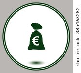 money bag vector icon. euro