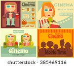 cinema posters set. movie... | Shutterstock .eps vector #385469116