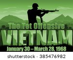 Vietnam war background scene of