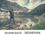 wall lake | Shutterstock . vector #385485496