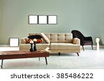 Grey wall modern sofa and...