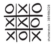 tic tac toe vector hand drawn... | Shutterstock .eps vector #385486228