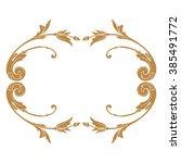 premium gold vintage baroque... | Shutterstock .eps vector #385491772