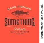 vintage fish logo.  | Shutterstock . vector #385492306