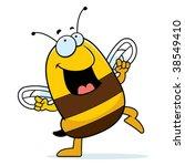 bee dancing | Shutterstock .eps vector #38549410