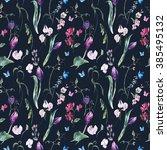 gentle floral vintage... | Shutterstock . vector #385495132