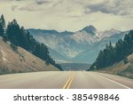 driving on the road across... | Shutterstock . vector #385498846