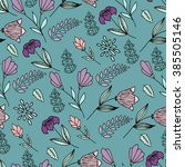 hand drawn floral pattern.... | Shutterstock .eps vector #385505146