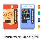 vending machine vector set.... | Shutterstock .eps vector #385516396
