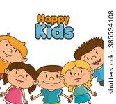 happy kids design  | Shutterstock .eps vector #385534108
