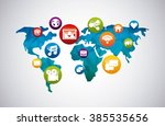 social media design  | Shutterstock .eps vector #385535656