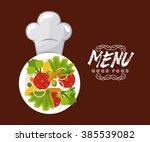 healthy food design    Shutterstock .eps vector #385539082