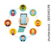 people sharing design  | Shutterstock .eps vector #385540198