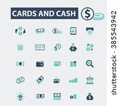 cards and cash icons  | Shutterstock .eps vector #385543942