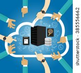 infrastructure as a service... | Shutterstock .eps vector #385556662