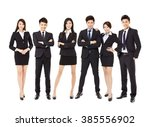 group of asian business people... | Shutterstock . vector #385556902