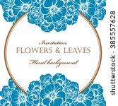 romantic invitation. wedding ... | Shutterstock . vector #385557628