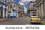 panoramic view of havana street ... | Shutterstock . vector #38556286