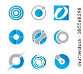 a collection of vector circle... | Shutterstock .eps vector #385568398